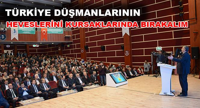 Türkiye Düşmanlarını Sevindirmeyeceğiz